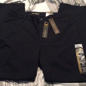 Lee Effortless Wash &Wear Straight Leg Pants